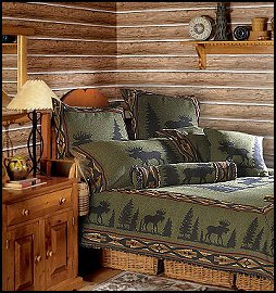 lodge cabin log cabin themed bedroom decorating ideas